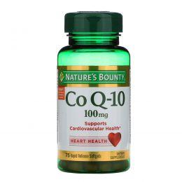 Nature's Bounty, Коэнзим Q-10, Q-Sorb, 100 мг, 75 гелевых капсул