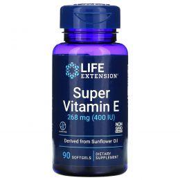 Life Extension, Натуральный витамин E, 400 МЕ, 90 мягких желатиновых капсул