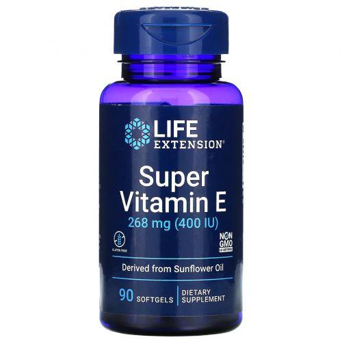 Life Extension, Super Vitamin E, 400 IU, 90 Softgels