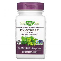 Nature's Way, Успокаивающее средство «Стресс в прошлом», 445 мг, 100 растительных капсул