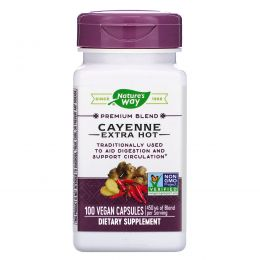 Nature's Way, Экстра острый кайенский перец, 450 мг, 100 капсул