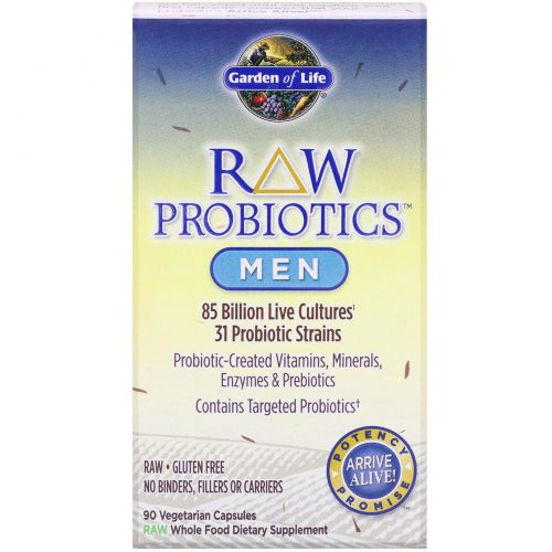 Garden of Life, Сырые пробиотики для мужчин, 90 капсул на растительной основе (Ice)