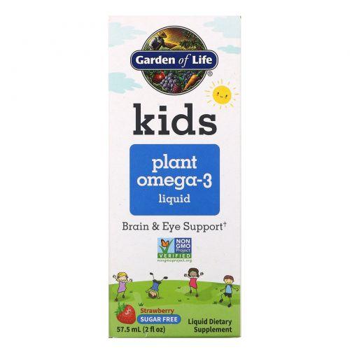 Garden of Life, Kids Plant Omega-3, Strawberry 2 fl oz (57.5 mL)  Liquid
