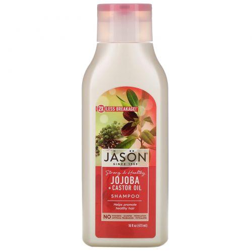 Jason Natural, Long & Strong Jojoba Shampoo, 16 fl oz (473 ml)