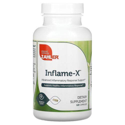 Zahler, Inflame-X, улучшенная поддержка при воспалительной реакции, 120 растительных капсул