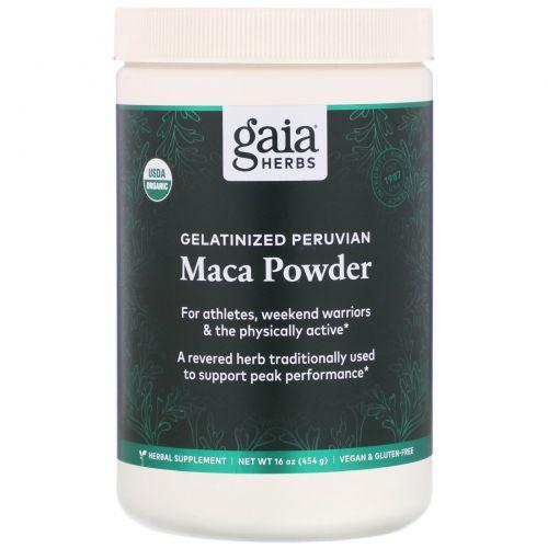 Gaia Herbs, Порошок маки, желатинизированный, 16 унции (454 г)
