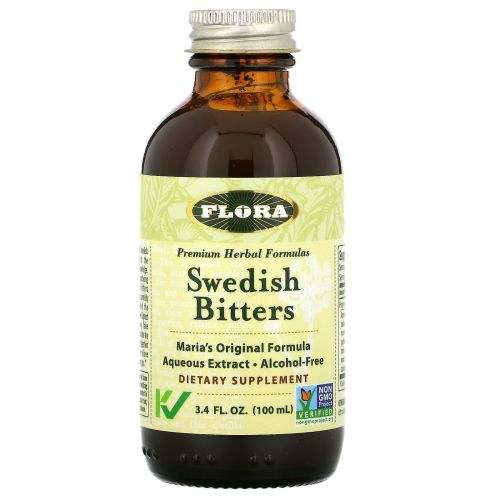 Flora, Swedish Bitters, Non-GMO, 3.4 fl oz (100 ml)