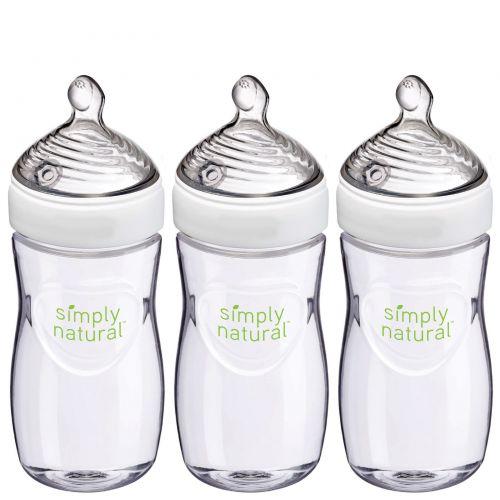 NUK, Simply Natural, бутылочки, от 1 месяца, 3 штуки, 9 унц. (270 мл) каждая