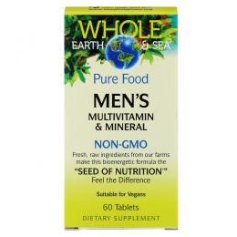 """Natural Factors, Пищевая добавка """"Непочатое море и земля"""", мультивитаминный и минеральный комплекс для мужщин, 60 таблеток"""