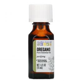 Aura Cacia, 100% Pure Essential Oil, Oregano, .5 fl oz (15 ml)