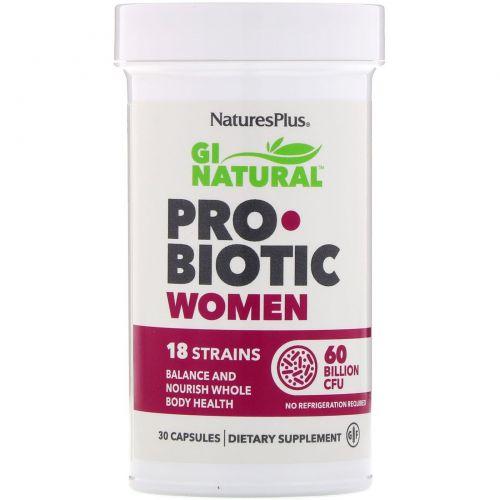 Nature's Plus, GI Natural Probiotic Women, 60 Billion CFU, 30 Capsules