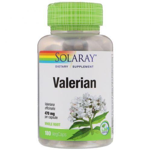 Solaray, Valerian, 470 mg, 180 Veggie Caps