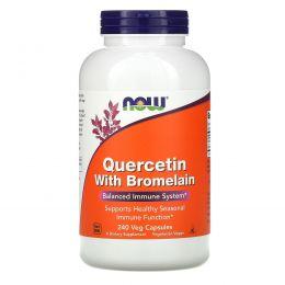Now Foods, Кверцетин и бромелаин, 240 растительных капсул