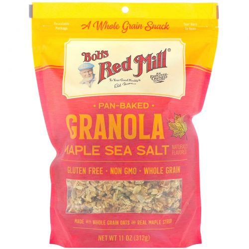 Bob's Red Mill, Печеная гранола, кленовый сироп и морская соль, 312г (11унций)
