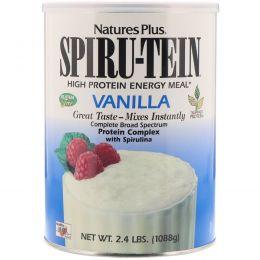 Nature's Plus, Spiru-Tein, энергетический продукт с высоким содержанием белка, со вкусом ванили, 2,4 фунта (1088 г)