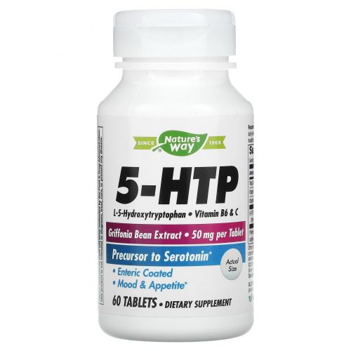 Nature's Way, 5-HTP 60 таблеток