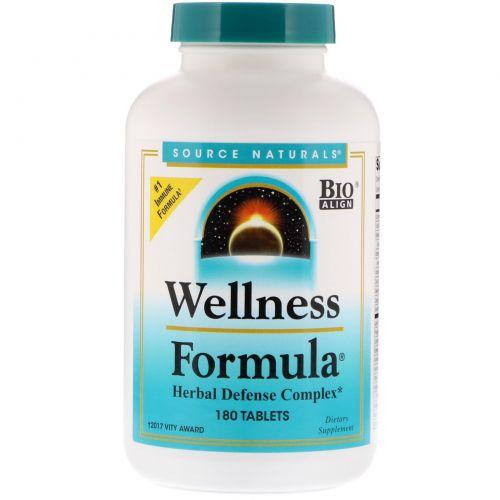 Source Naturals, Оздоровительная формула, 180 таблеток