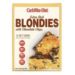 Universal Nutrition, CarbRite Diet, Extra Rich Blondies with Chocolate Chips, Maltitol-Free, 11.43 oz (324 g)