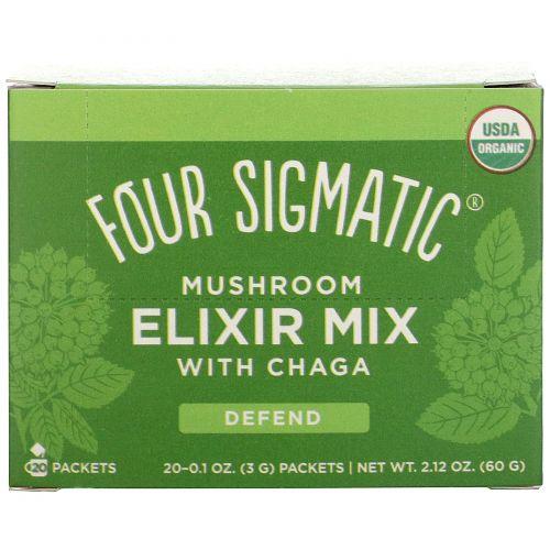 Four Sigmatic, Напиток из грибов чага и травами, 20 пакетиков, 0,1 унции (3 г) каждый