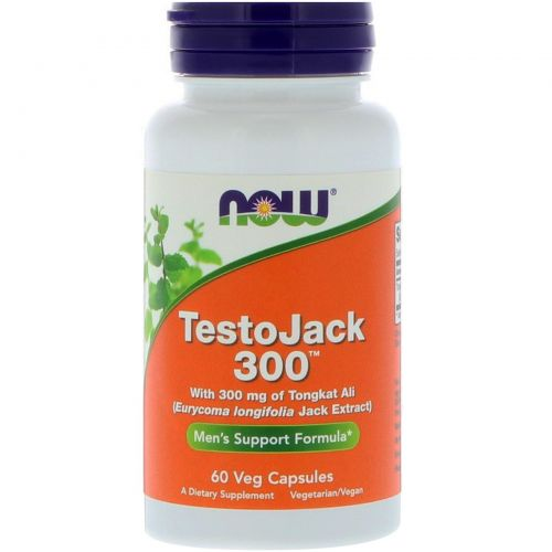 Now Foods, TestoJack 300, 60 растительных капсул
