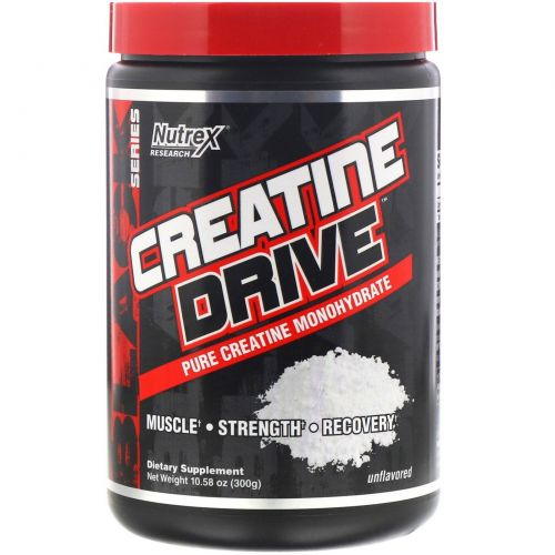 Nutrex Research, Creatine Drive, креатин без добавок, 300 г (10,58 унций)