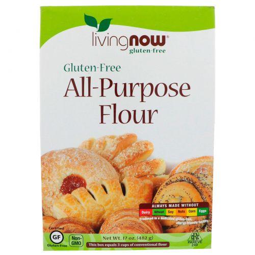 Now Foods, Мука для выпечки, без глютена, 482 г (17 oz)