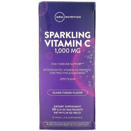 MRM, шипучий витаминC, вкус тропических фруктов, 1000мг, 30пакетиков, 6г (0,21унции)