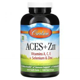 Carlson Labs, Витамины АСЕ + Цинк, 360 Гелевых Капсул