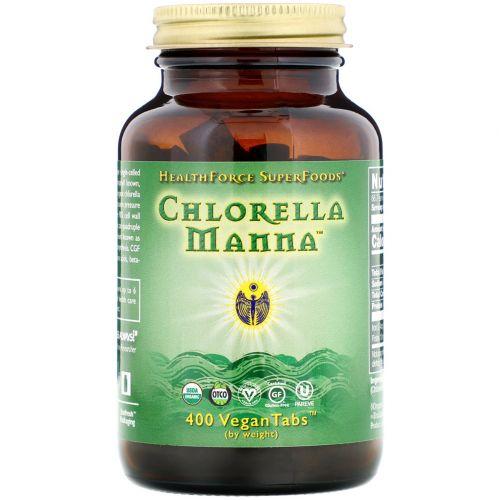 HealthForce Nutritionals, Хлорелла манна, 500 веганских таблеток
