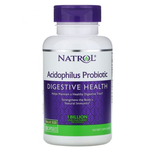 Natrol, Ацидофилус, 150 капсул