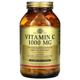 Solgar, Витамин С, 1000 мг, 250 вегетарианских капсул