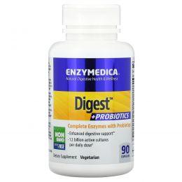 Enzymedica, Пищеварение + пробиотики, 90 капсул