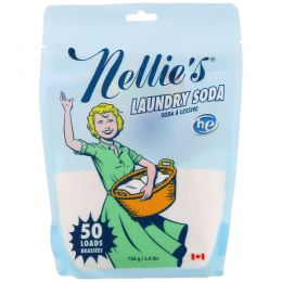 Nellie's All-Natural, Сода для стирки, неароматизированная, 1,3 фунта (0,6 кг)