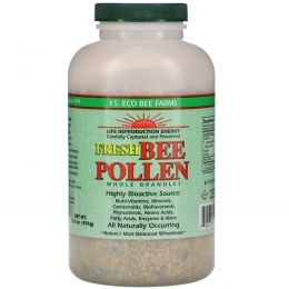 Y.S. Eco Bee Farms, Свежая пчелиная пыльца в гранулах, 16 унций (454 г)