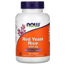 Now Foods, Красный дрожжевой рис, 1200 мг, 120 таблеток