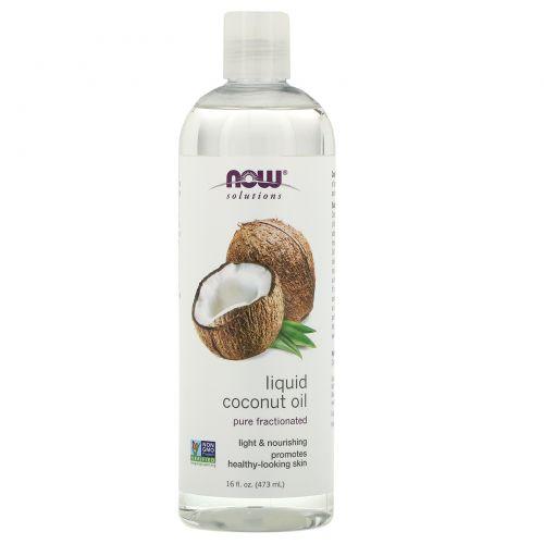 Now Foods, Жидкое кокосовое масло, чистое ректифицированное, 473 мл