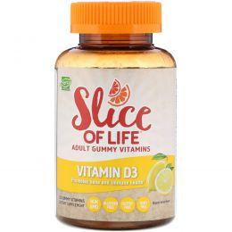 Hero Nutritional Products, Slice of Life, витамин D3, жевательные витамины высшего качества для взрослых, 1000 МЕ, 60 жевательных долек