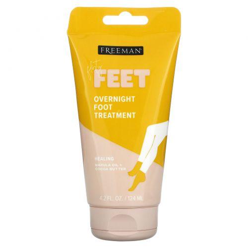 Freeman, Bare Foot, ночное увлажняющее средство ухода за ногами, масла марулы и какао, 4,2 ж. унц. (124 мл)