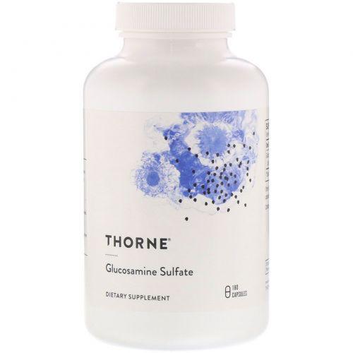 Thorne Research, Сульфат глюкозамина, 180 капсул на растительной основе