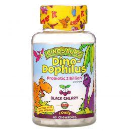 KAL, Dino-Dophilus, черемуха, 60 жевательных таблеток