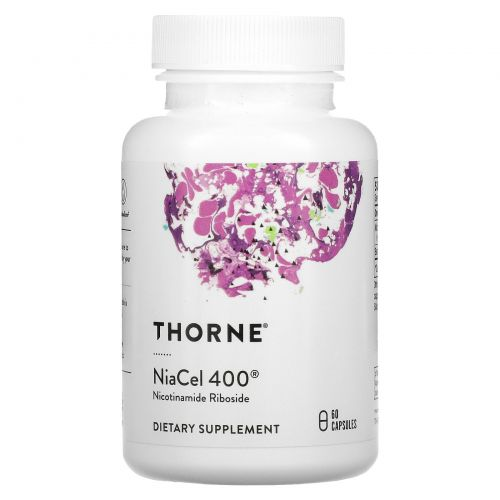 Thorne Research, NiaCel 400, 60 Capsules