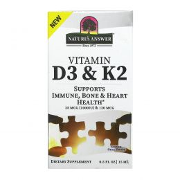 Nature's Answer, Vitamin D3 & K2, 0.5 fl oz (18 ml)