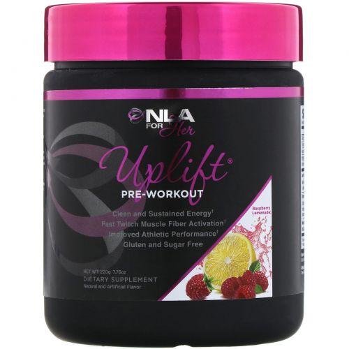 NLA for Her, Uplift, Pre Workout Energy, Raspberry Lemonade, 0.46 lbs (210 g)