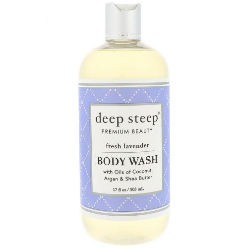 Deep Steep, Body Wash, Fresh Lavender, 17 fl oz (503 ml)