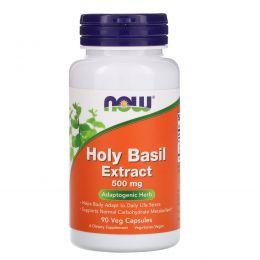 Now Foods, Экстракт базилика священного, 500 мг, 90 капсул в растительной упаковке