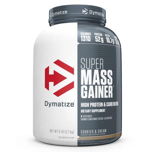 Dymatize Nutrition, Супер белково-углеводная смесь для набора массы, Печенье и сливки, 2,7 кг