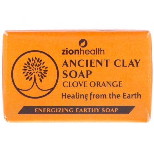 Zion Health, Древнее глиняное мыло, гвоздика и апельсин, 6 унц. (170 г)