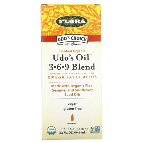 Flora, Udo's Choice, Udo's Oil 3·6·9 Blend, 32 жидких унций (946 мл)