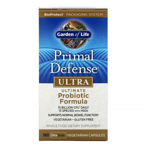 Garden of Life, Основная защита, Ультра, лучшая пробиотическая формула, 180  растительных капсул UltraZorbe