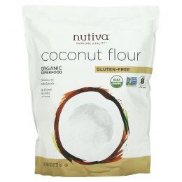 Nutiva, Кокосовая мука, безглютеновая, 3 фунта (1.36 кг)
